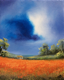 Картина, Фантазії на тему літа, 25х20 см. Живопис на полотні, фото №2
