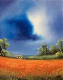 Картина, Фантазії на тему літа, 25х20 см. Живопис на полотні, фото №3