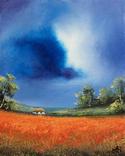 Картина, Фантазії на тему літа, 25х20 см. Живопис на полотні, фото №6