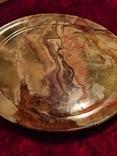 Блюдо тарелка из оникса 25 см., фото №3