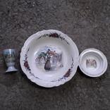 Тарілки і вазочка, фото №2