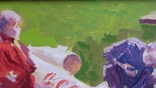 """В.Кнышевский""""Юные ракетчики,""""33*53см, орг.м., 1982г, фото №5"""