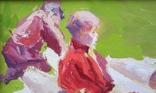 """В.Кнышевский""""Юные ракетчики,""""33*53см, орг.м., 1982г, фото №6"""