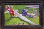 """В.Кнышевский""""Юные ракетчики,""""33*53см, орг.м., 1982г, фото №2"""