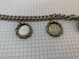 Браслет металлический с монетками, фото №3