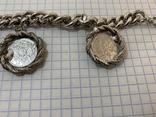 Браслет металлический с монетками, фото №4