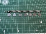 Браслет металлический темный с монетками, фото №2