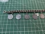 Браслет металлический темный с монетками, фото №3