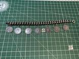 Браслет металлический темный с монетками, фото №5
