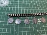 Браслет металлический темный с монетками, фото №6