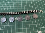 Браслет металлический темный с монетками, фото №7
