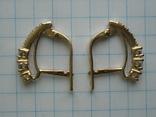Серьги золотые 585 пробы Украина 2.95 гр., фото №2