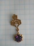 Золотой кулон с цепочкой 583 проба 5.1 гр. СССР, фото №4
