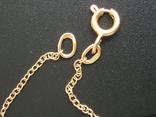 Золотой кулон с цепочкой 583 проба 5.1 гр. СССР, фото №9