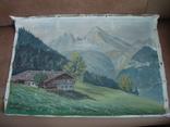 Картина на холсте без подрамника худ.W.Wolfram 50/35см., фото №2