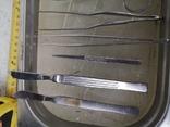 Медицинские инструменты лоток ножницы скальпель пинцет, фото №13