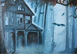 Дом голубого света (The house of blue light). 50х70 см. Холст, масло. Алек Гросс, фото №3