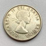 Канада 50 центов 1957 года Серебро, фото №2