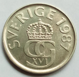 5 крон 1987 г. Швеция, фото №2