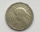2 злотых 1924 года перевернутый орел, фото №2