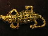 Брелок - Крокодил - металл,стразы., фото №7