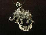 Брелок - Слон - металл,стразы., фото №6