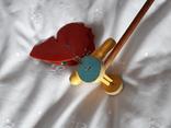 Старая игрушка Бабочка каталка, фото №4