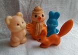 Советские игрушки Львенок, Зайчик, Сова, Белочка, фото №2