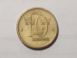 10 крон 1992г. Швеция, фото №3