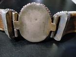 Браслет из бивня моржа, латунными креплениями и камнем, фото №8
