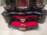 Часы музыкальная шкатулка для украшений интерьерные, фото №4