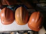 3 строительные шахтерские каски труд дружба БАМ, фото №2