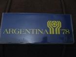 Аргентина 1978 Официальный набор UNC серебро Футбол Буклет, фото №3