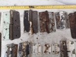 Петли завесы дверные металлические б/у много уборка гаража, фото №3