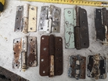 Петли завесы дверные металлические б/у много уборка гаража, фото №5