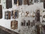 Петли завесы дверные металлические б/у много уборка гаража, фото №7
