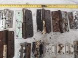 Петли завесы дверные металлические б/у много уборка гаража, фото №10