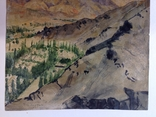 Горный пейзаж. Уч.Курган. А. Широков 30,5х22,5., фото №6