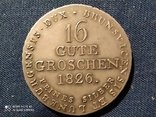 Германия.Ганновер,16 грошей 1826 г. Серебро., фото №4