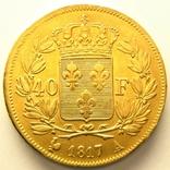 Франция 40 франков 1817 г., фото №3