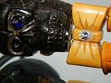 Чётки ручной работы /камень в бабочке нат, аквамарин/, фото №4