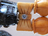 Чётки ручной работы /камень в бабочке нат, аквамарин/, фото №10