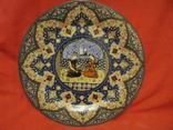 Декоративное настенное блюдо - Восточный мотив - фарфор - диаметр -27,5 см., фото №2