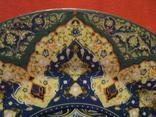 Декоративное настенное блюдо - Восточный мотив - фарфор - диаметр -27,5 см., фото №4