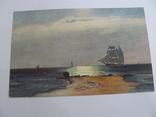 Дореволюциоцонная открытка, печать Германия, Парусник №2, фото №2
