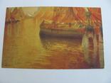 Дореволюционная открытка  Италия Корабли, фото №2