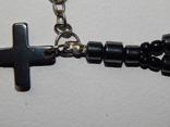 Миниатюрные чётки-брелок со вставками из нефрита, фото №5