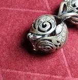 Гарнитур, серебро 925, фото №5