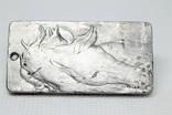 """Кулон """"Зодіак Кінь"""" з  метеорита Aletai, 40,9 грам, із сертифікатом автентичності, фото №2"""