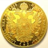 Австрия 4 дуката 1915 г. рестрайк, фото №3